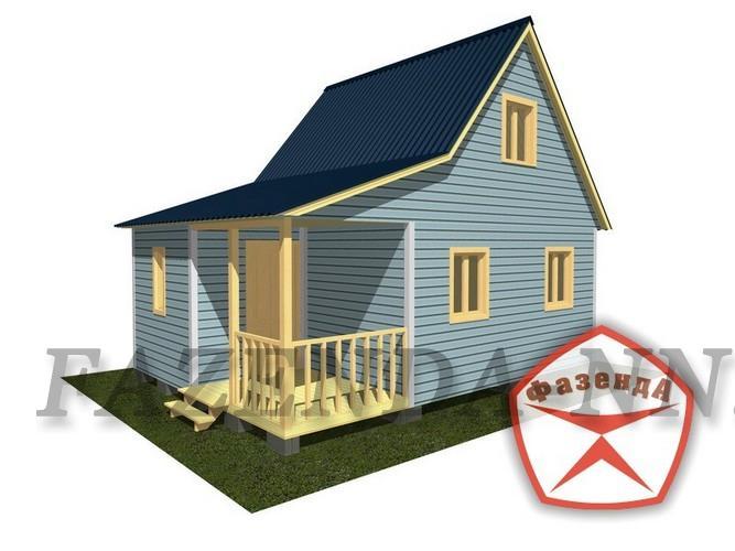 Размеры: 5,0 х 7,0 м Общая площадь помещений: 46,1 м.кв Этажность: 2 Площадь застройки: 35 м.кв. Срок строительства